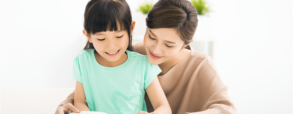 mother and child getting into the rhythm of the homeschooling program