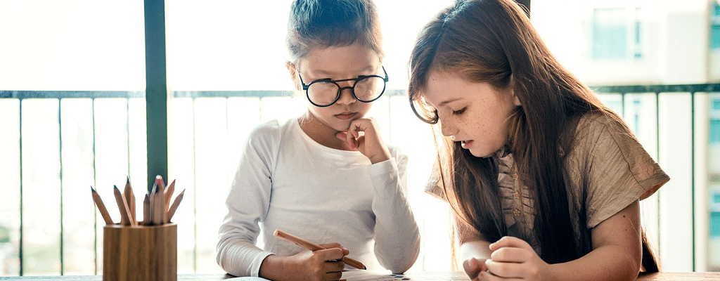 personalized learning program making a child's homework easier
