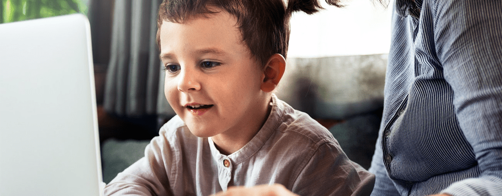 child learning at his own pace with the personalized learning program